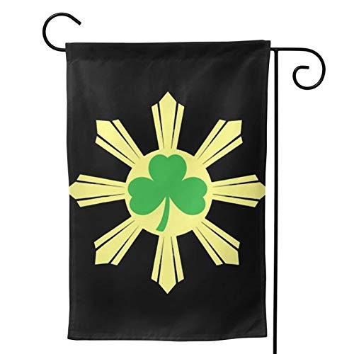 Acyliv St. Patricks Day Shamrock Irish Ireland Filipino Flag Double Sided Home Outdoor Garden Patio Yard Lawn Decoration Flag