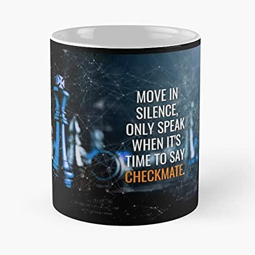 Move in Silence (Blue) – Eat Food Bite John Best 11 oz Taza de café de cerámica, color blanco que Je personalize