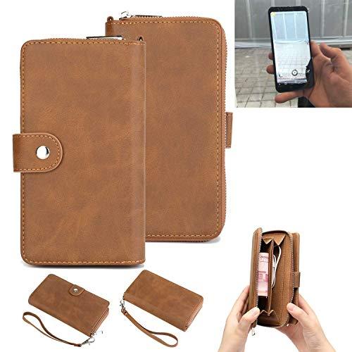 K-S-Trade Handy-Schutz-Hülle Für Energizer Powermax P600S Portemonnee Tasche Wallet-Hülle Bookstyle-Etui Braun (1x)
