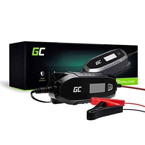 Green Cell® Cargador de batería (AGM, Gel, MF, SLA, VRLA) automático (Voltaje de Carga 6V / 12V 48W 4A) Cargador con probador de batería para Coche Scooter Motocicleta Camión Automóvil ATV