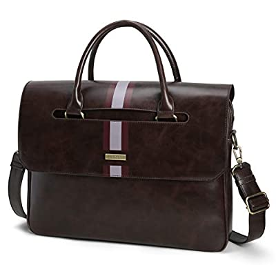 Amazon - 75% Off on Men's Briefcase 15.6 inch Laptop Bag PU Leather Computer Messenger Shoulder Bag with  Pockets