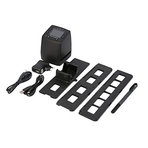 Lynn025Keats Escáner digital de alta resolución convierte USB negativos, diapositivas, escaneo de fotos, convertidor de película digital portátil de 2,4 pulgadas LCD