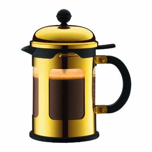 Bodum - 11171-17 - CHAMBORD - Cafetière à Piston - Acier Chromé - 0.5 l - Or