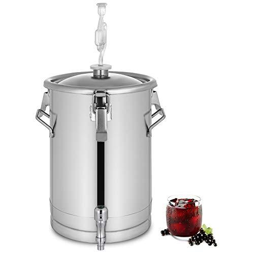 GIOEVO Fermentatore per Birra in Acciaio Inossidabile 30L Fermentatore a Secchio per Birra Fatto in Casa con Attrezzatura per Fermentazione (30L)