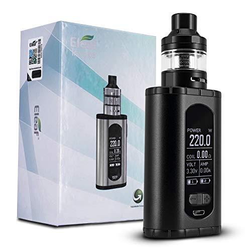 Eleaf Invoke 220 watt E Shisha kit di vaporizzazione con vaporizzatore Ello T 2/4,5 ml senza liquido, senza nicotina (Nero)
