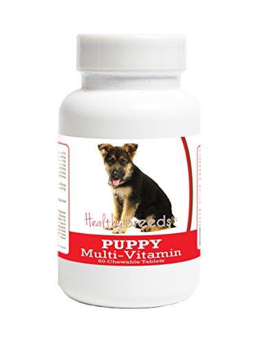 Healthy Breeds Multivitamin for Puppy for German Shepherd - Over 100 Breeds - Veterinarian Formulated Daily Dietary Supplement - Liver Flavored Treats - 60 Chews