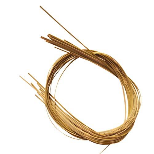 Healifty 5 Stück Korb Schilf Flache Dünne Schilfspule für Bambusmöbel Stuhl Binder Stöcke Weben Reparatur DIY Handwerk 430X1. 5Cm