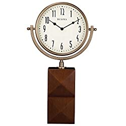 Bulova B5403 Park Avenue Tabletop Clock, 14, Cherry Finish