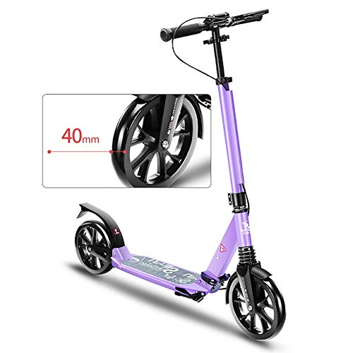 Lowest Price! Scooter Kick Folding Kick with Adjustable Handle, Shock Absorbing, Adults with Large P...