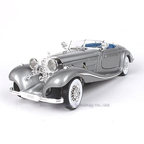 JKSM Coche Modelocinc 1:18 1936 para Mercedes 500K TYP Aleación Retro Modelo De Coche Clásico Modelo De Coche Decoración Colección Niños Adultos Regalo (Color : Gray)