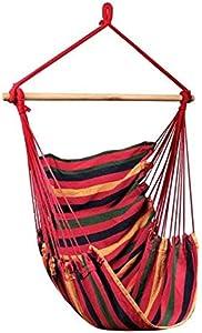 HUANGZHENYIN Silla Colgante Hamaca Portátil Viaje Camping Casa Dormitorio Swing Cama Perezosa Silla E sin Almohada