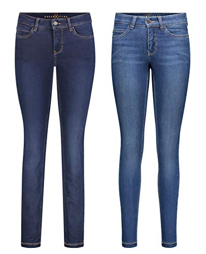 MAC Dream Skinny - 2er Pack Damen Jeans in Verschiedene Farbvarianten, Größe18:W40/L28, Farbe:D826+D569