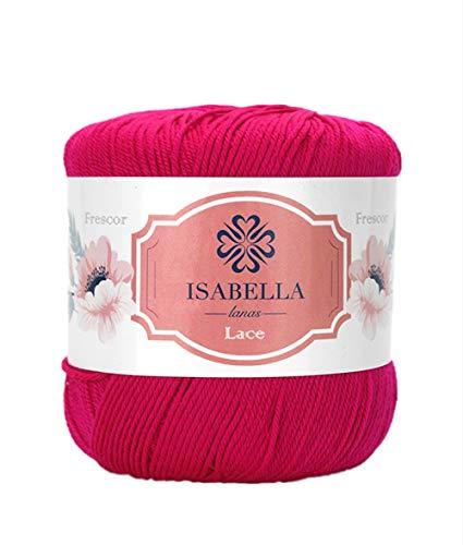 Isabella Lana 10 Unidades de Ovillos de Lanas Hilo Acrílico Frescor para Crochet y Tejer DIY (10x75g) (Violeta 27)