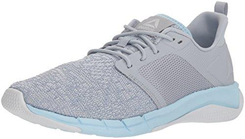 Reebok Women's Print Run 3.0 Shoe, Cloud Grey/Spirit White/d, 12 M US