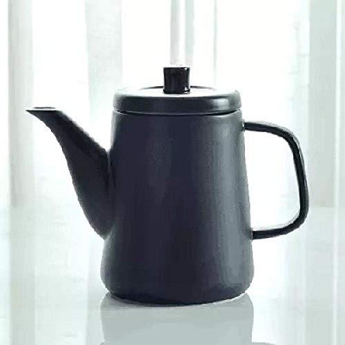 Tetera de hierro fundido, tetera retro creativa imitación grande tetera cafetera cerámica té botella de agua minimalista decoración del hogar regalo
