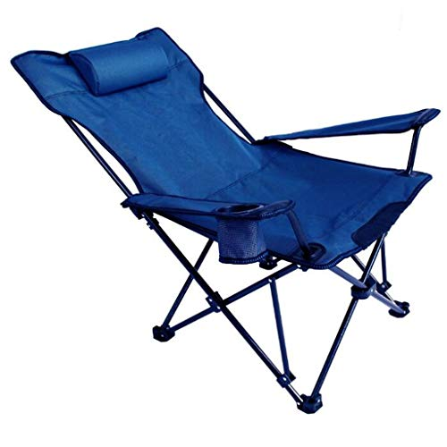 FABAX Travel Outdoor Chair Portable Camping Chair Beach Folding Chairs Fishing Chair Seat Oxford Cloth Lightweight Seat Metal Leisure Chair Camping Chair (Color : Blue)