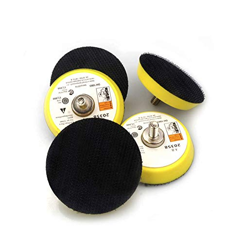 2 inch (50mm) Sanding Discs Backing Pad, 5Pcs Hook & Loop Sanding Pad for Drill Grinder, Drill Sanding Attachment#DMPGP