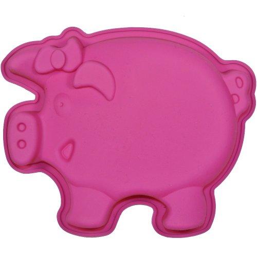 Promobo - Moule à Gateau en silicone Cochon Forme Ludique Animal Rose