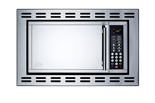 Summit OTR24 24 Inch Stainless Steel Built In 0.9 cu. ft. Capacity Microwave Oven with Trim Kit