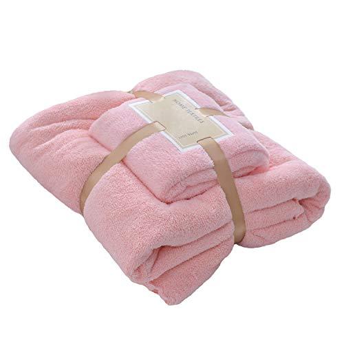 QLGRXWL Toallas Rosadas para El Hogar Toallas De Lavado Diario Suaves Y Cómodas De Vellón De Coral Adecuadas para Los Baños De Hotel De Spas Familiares Diarios