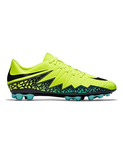 Nike Herren Hypervenom Phelon II AG-R Fußballschuhe, Amarillo (Amarillo (Volt/Black-Hyper Turq-CLR Jade), 43 EU