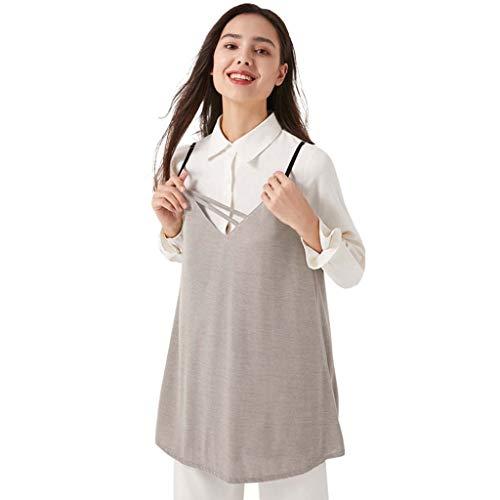 ALALA Delantal Anti-RadiacióN, Vestido De Verano para Mujer Sin DeformacióN por RadiacióN, Vestido De Maternidad, Las Mujeres Embarazadas Usan Todas Las Estaciones (Color : Silver, Size : XXL)
