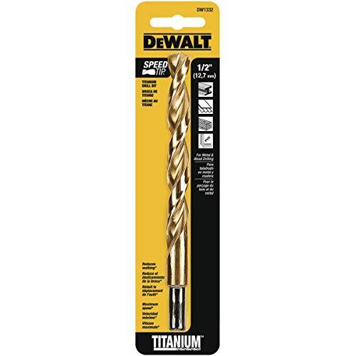 DEWALT DW1332 1/2-Inch Titanium 3/8-Inch Reduced Shank Split Point Twist Drill Bit