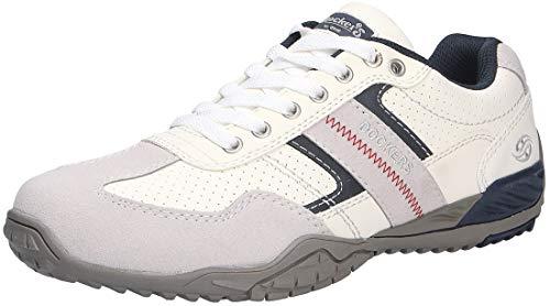 Dockers by Gerli Herren Sneaker Schwarz, Braun, Grau, Weiß, Natur, Schuhgröße:EUR 44, Farbe:Weißtöne