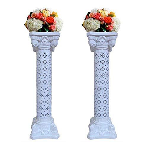 Malayas 8 stuks bloemenstandaard bruiloft zuil kunststof standaard met tafelkleed en bloemen voor buiten bruiloft verjaardag party decoratie, 120 cm hoogte 6 lm.