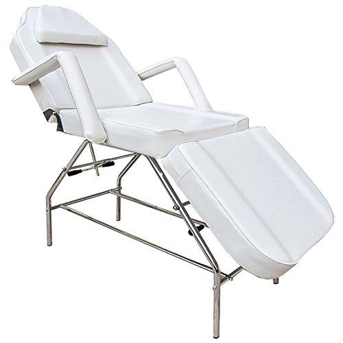 eyepower 3-Zonen Kosmetikstuhl Massagestuhl Massageliege Behandlungsstuhl (Weiß)