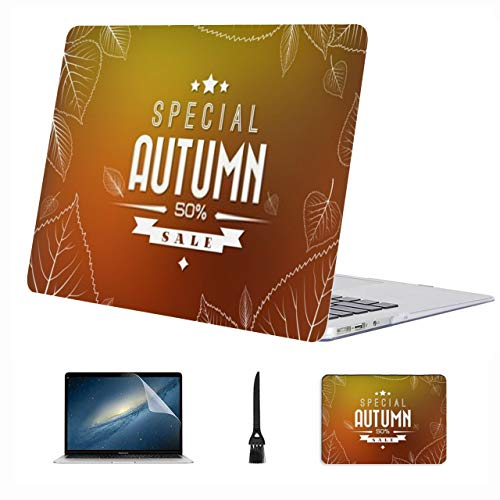 4 in 1 Laptop Case for MacBook 13 inch New Pro USB-C 2020 A2289/A2251 Case,Plastic Hard Shell Case Cover and Mouse Pad & Screen Protector,Autumn Sale Retro Poster