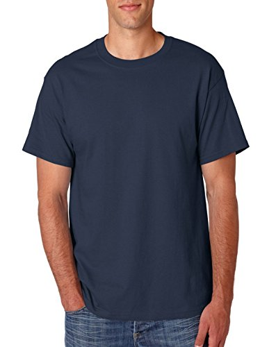 USA Hanes 5180T Adult Tall Beefy-T Navy XX-Large Tall