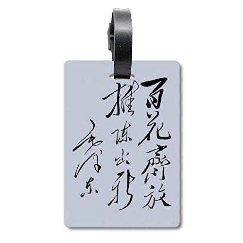 Etiqueta de identificación para Maleta con diseño de Silla Mao Crucero, Color Negro
