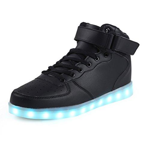 SAGUARO(TM 8 Colors LED Light-Up Couple Women's Men's Sport Shoes Sneakers USB Charging for...
