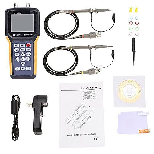 JINKEBIN Osciloscopio JDS2022A osciloscopio digital de doble canal 20MHz ancho de banda 200MSa/s Frecuencia de muestreo Osciloscopio automotriz