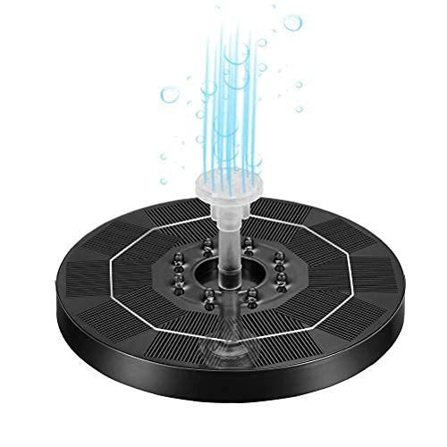 OUCRIY Upgrad Solar Fountain Pump 5V 3.5W LED Floating Fountain Pump with 8 LED Lights and 6 Nozzles Solar Powered Water Pump for Garden Patio Pond 18CM