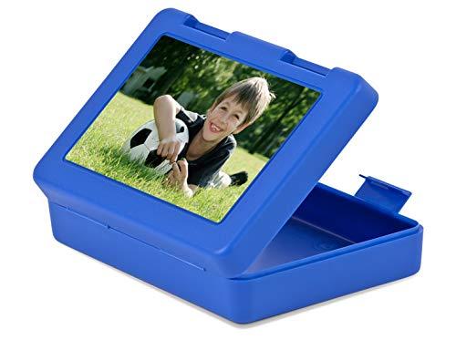 fotokasten Lunchbox – Brotdose mit Foto – Lunchbox selbst gestalten – Lebensmittelechter Kunststoff – 3 Farben erhältlich