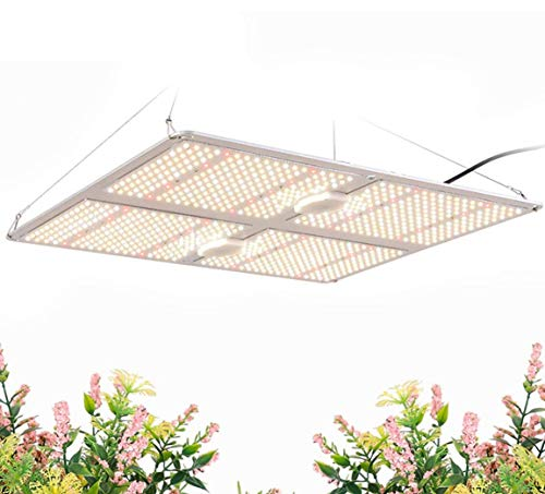 Lámpara de cultivo de plantas a prueba de agua de 400 W, lámpara de cultivo de 4 cabezas, luces de cultivo LED para plantas de interior de espectro completo grande, para verduras de marihuana, 4heads