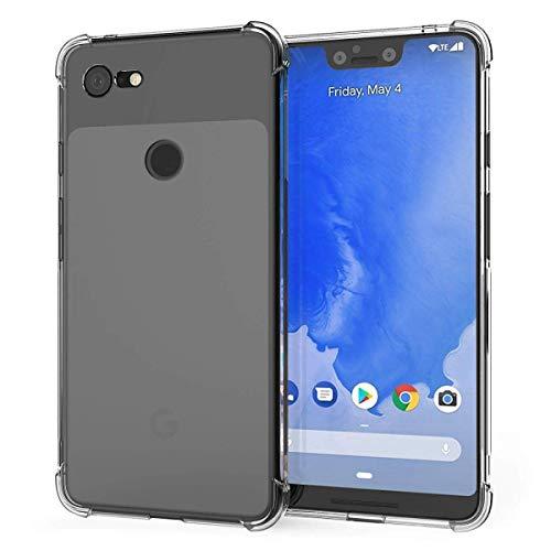 ZealBea Focus Funda Google Pixel 3 XL, Carcasa Protectora Suave de TPU Estuche Cristalino Flexible con Absorción de Impacto/Antideslizante/Resistencia al Rayado para Google Pixel 3XL (Transparente)