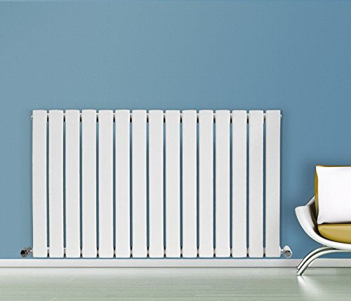 NRG 600x1020 Horizontal Flat Panel Designer Radiators Radiator Bathroom Central Heating Radiators Rad Single Column White