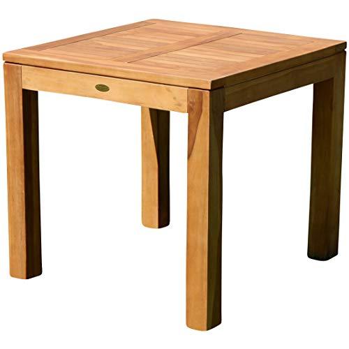 ASS Wuchtiger echt Teak Bigfuss Design Gartentisch 80x80 Holztisch Teaktisch Garten Tisch Holz JAV-BIGFUSS80