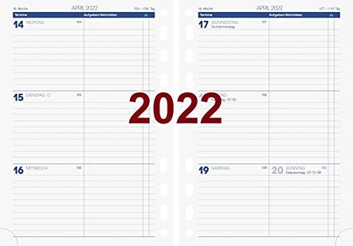 BRUNNEN 1079100002 Wochenkalendarium, Zeitplansysteme, 2022, 2 Seiten = 1 Woche, Blattgröße 14,8 x 20,8 cm, A5