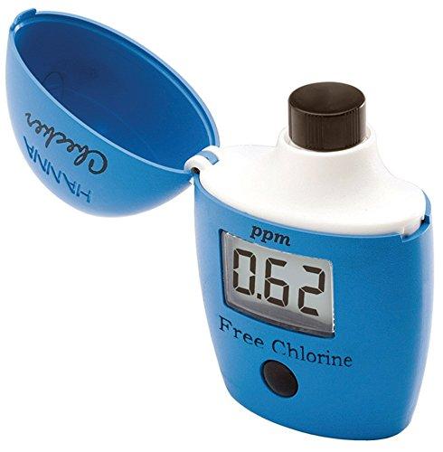 HANNA Instruments Hi 701 Compteur de Poche pour testeur de Chlore Libre Bleu 8 x 12 x 3,5 cm