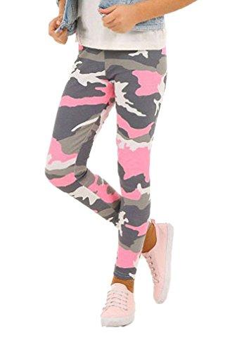 Dykmod Camouflage Mädchen Leggings Leggins Hose Kinder hk262 140 Rosa