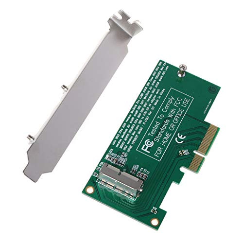 Meipai Adapter Card to PCI-E 4X 16X for 2013 2014 2015 2016 Compatible for MacBook Air A1465 Pro A1398 Retina SSD Converter
