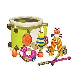 B. Toys- Set di Tamburo con 7 Strumenti Musicali, Multicolore, BX1883C1Z