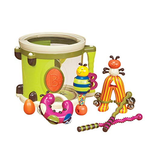 B. Toys – Parum Pum – Toy Drum Kit with 7 Musical Instruments for Kids 18 Months + (7-pcs) ,Multi-colour,BX1883C1Z