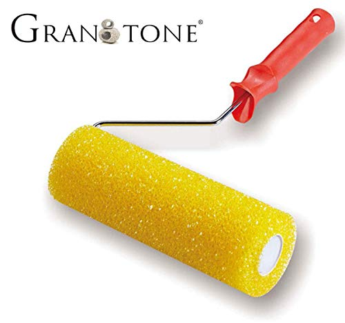 GranotoneTextured Paint Roller 7 Inches (Multicolor) FoamPaint Roller with Ergonomic Handle for Speaker Cabinets, Road Cases, Wall Painting, Deck Coatings, Truck Bed Liners, Decorative Coatings, Anti-