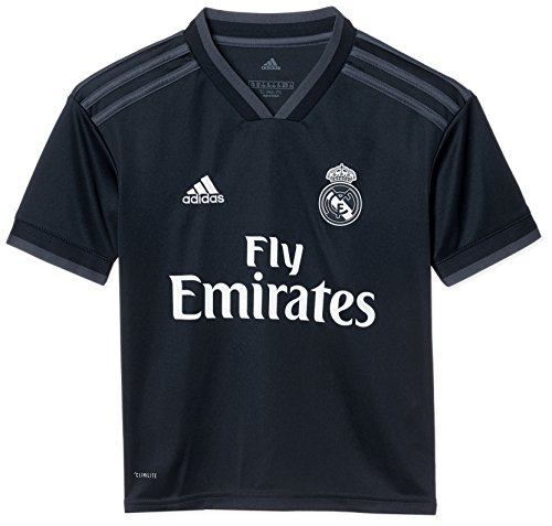 adidas Kinder 18/19 Real Madrid Away Trikot, tech Onix/Bold Onix/White, 140