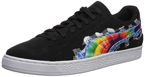 PUMA Men's Suede Classic Sneaker, Black, 11.5 M US